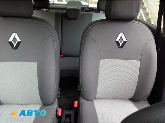 Elegance Car Seat Cover Black//Grey For Renault SCENIC 2003-2009